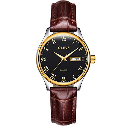 OLEVS Luxury Day and Date Calendar Wrist Watches Men Women Casual Business Dress Waterproof Watch Analogue ()