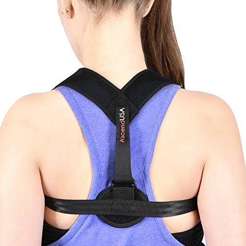 AscendUSA Posture Corrector and Back Brace Support for Women and Men with Adjustable Device- Can Be Worn Under Clothes- Relievee Back, Shoulder and Neck Pain- Prevent Slouching and Improve Alignment