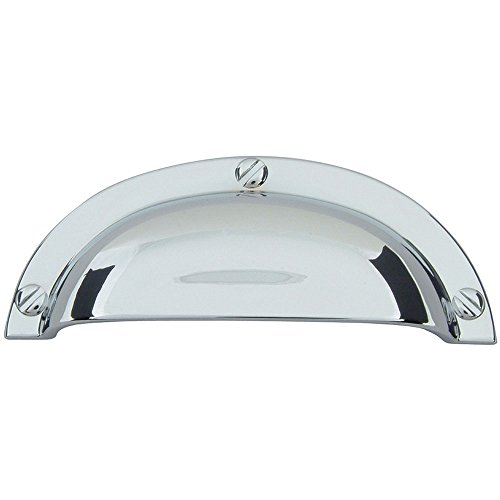 Atlas Homewares A818-CH 3-3/4-Inch Euro-Tech Collection Bin Cup Pull, Polished Chrome