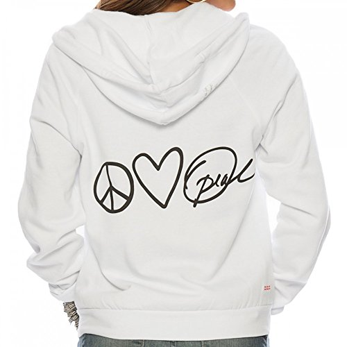 Peace Love Oprah White Fleece Zip Hoodie X-Small by Peace Love World (Image #4)'