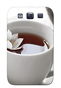 Exultantor Galaxy S3 Hybrid Tpu Case Cover Silicon Bumper Flowers Cats Tea Cups