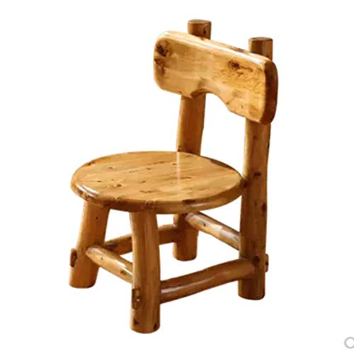 A-Fort W-1709 DLDL Log Wood Chair Round Stool Pure Solid Wood Study Chair (Bar Stool Cedar Round)