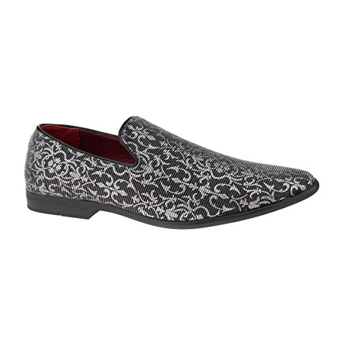 New Mens Casual Slip On Loafers Shoes Smart Dress Fashion Designer UK Size 6-11 Silver kkKdYzdnK