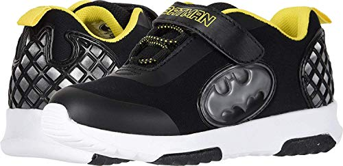 Favorite Characters Boys Batman Athletic Shoes with Premium Lights (Toddler/Little Kid) Black (12 M US Little Kid)