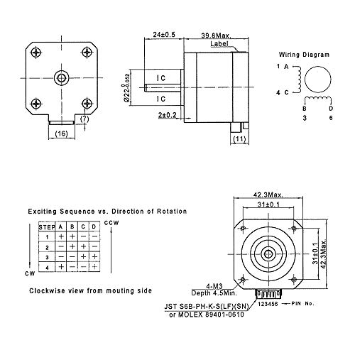 FYSETC 3D Printer Motors Nema 17 Stepper Motor 40 Motor 1.5A 2 Phase on