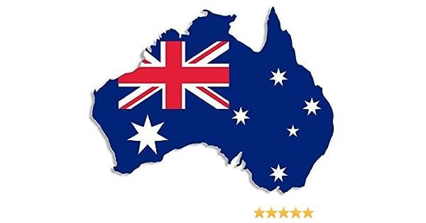 Australian Map-Flag Vinyl Bumper Sticker Aussie Decal AUSTRALIA