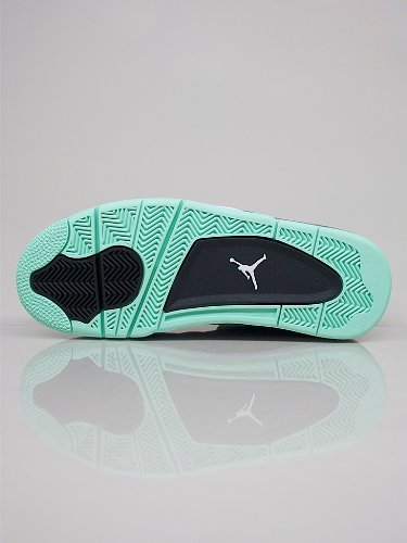 Nike Air Jordan 4 Retro 'Green Glow' Dark Grey/Green Black Trainer