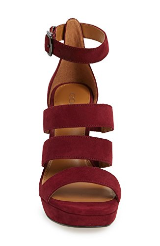 Scarpe Da Donna Marina Open Toe Sandali Con Cinturini Casual Bordeaux