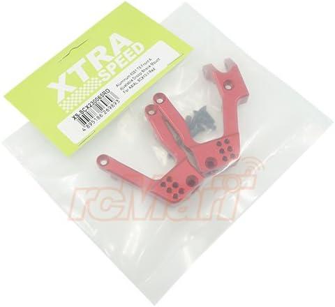 Xtra Speed CNC Front Adjustable Droop Shock Mount Red SCX10 II #XS-SCX230065RD