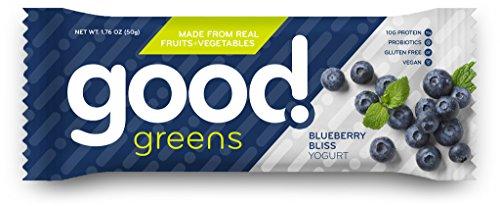 good! greens Gluten-Free Vegan Protein Bar, Blueberry Bliss, 1.76 oz, 12 - And Good Green