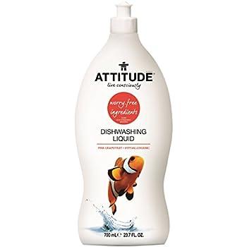 Attitude Dishwashing Liquid Pink Grapefruit, 23.7 Fluid Ounce