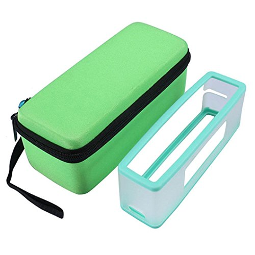 Water Resistant Silicone Bluetooth Speaker Set of 2 (Green) - 4