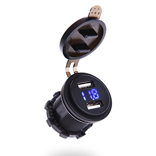 mictuning-led-digital-display-voltmeter-42a-dual-usb-car-charger-socket-power-outlet-panel-mount-blu