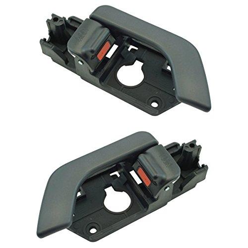Interior Black Door Handle LH RH Kit Pair for 03-08 Hyundai Tiburon Brand