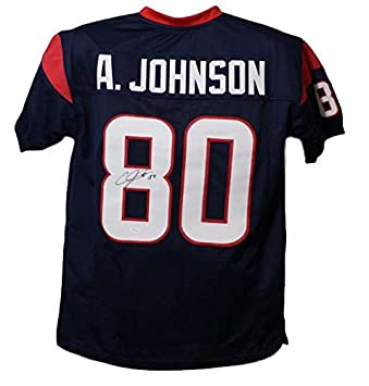 Andre Johnson Autographed Houston Texans Blue Jersey JSA at Amazon s ... 8c5cadf1d