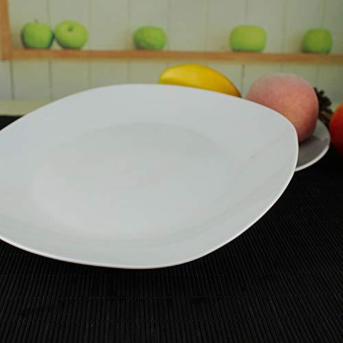QINCH KITCHEN Placa de cerámica de cerámica del hotel de cerámica de la placa plana blanca de 2 / PCS