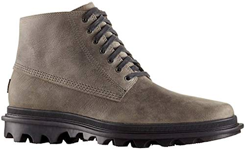 Sorel Mens Ace Chukka Waterproof Boot, Quarry/Black, Size 9