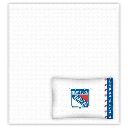 Sports Coverage NHL New York Rangers Micro Fiber Sheet Set (Twin) - Sheets Twin Sports Coverage