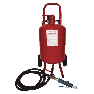 Allsource Abrasive Blaster with FREE U.S. Patented Deadman Handle - 5-Gallons