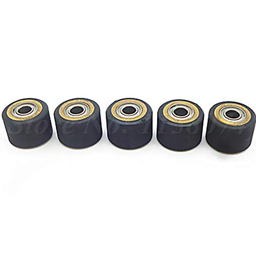 ILLIO Pack Of 5 Copper Core Pinch Roller Wheel Bearing 4x10x14mm Pinch Rollers Printer Parts For Roland Cutting Plotter Vinly Cutter NEW by ILLIO (Image #1)