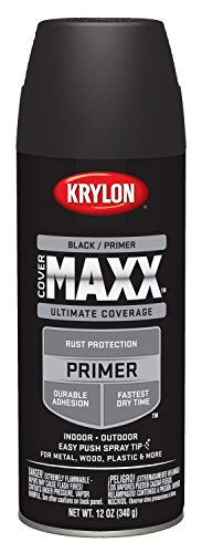 Krylon K09182000 COVERMAXX Primer, Black, 12 Ounce