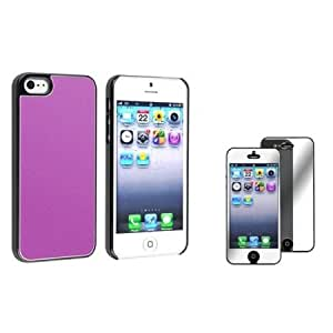 Cerhinu Everydaysource Compatible with Apple? iPhone? 5 / 5S-Purple Frost Aluminum Rear Snap-on Case with 1 Mirror Screen...