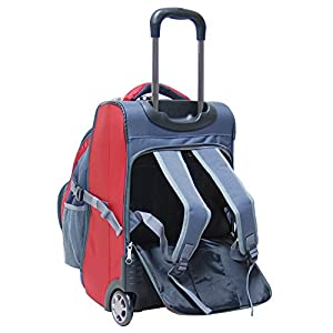 CalPak Fushion Dual-use 20-inch Carry-on Detachable Rolling Backpack, Deep Red, One Size