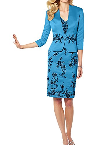 Jaket Pink Brautmutterkleider mia Etuikleider Ballkleider Spitze Herrlich Abendkleider mit Promkleider Braut La Blau Knielang 87xqnBdn