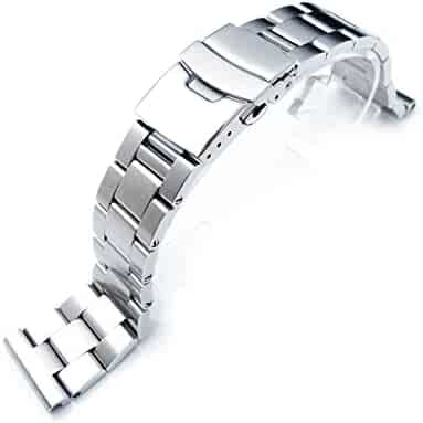 20mm Solid 316l Stainless Steel Super Oyster Straight End Watch Band