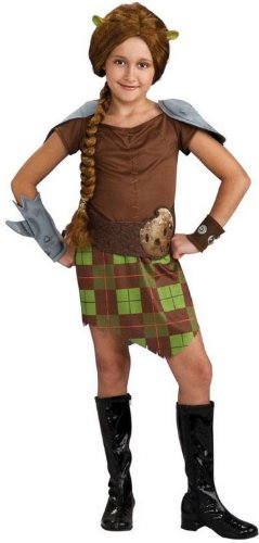 [Shrek Child's Costume, Princess Fiona Warrior Costume] (Warrior Fiona Costumes)