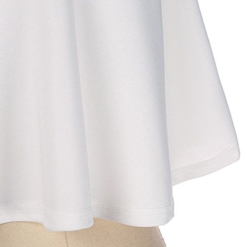 Dolland Women's Crop Top & Skirt Outfit Two Piece Bodycon Bandage Party Dresses,White,S by Dolland (Image #6)