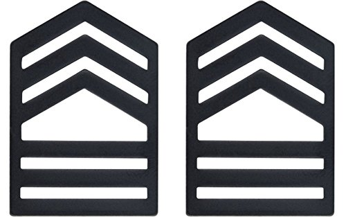 (Army ROTC Rank for ENLISTED - Subdued Black (Cadet - Master SGT))