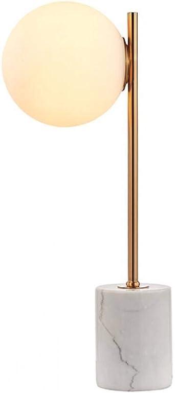 Lámpara de mesa JFHGNJ Lámpara de mesa moderna de alabastro y bola ...