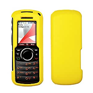 Yellow Rubberized Hard Cover Crystal Case for Motorola i296