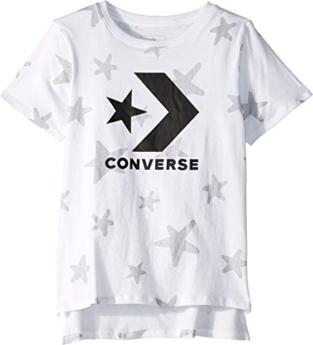 Converse Kids Girl's Grafitti Star Chevron Knit Top (Big Kids) White Small ()