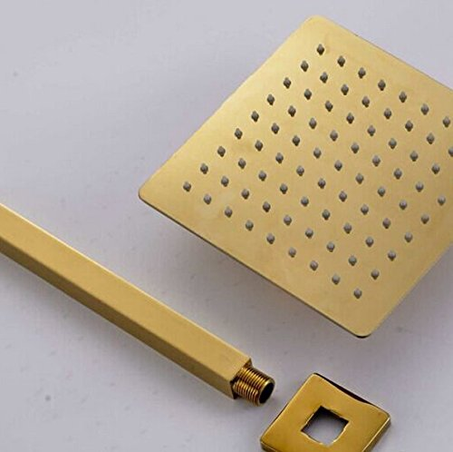 GOWE Ceiling Mounted Golden Polish 12-in Shower Faucet Bath Shower Set Single Handle 1