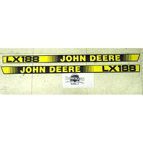 John Deere LX188 hood trim decal set for LX188 tractors M116262 M116263 (Decal Set Hood)