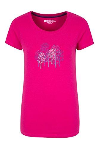 Mountain Warehouse Camiseta Forest Trees para mujer Rosa brillante