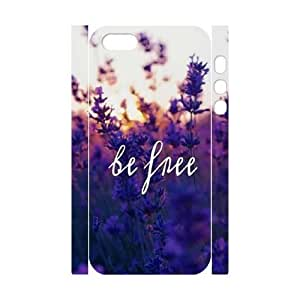 Cool Painting Be Free Brand New 3D Cover Case for Iphone 5,5S,diy case cover case581537