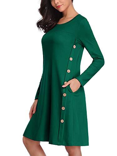 FENSACE LooseLong Sleeve FittingMaternity Dress with Poc