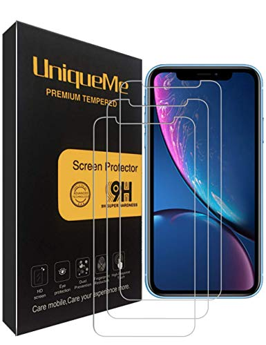 [3 Pack] INGLE Compatible with iPhone XR Screen Protector, 9H Hardness Bubble Free Tempered Glass with Lifetime Replacement Warranty
