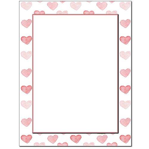 Stamped Hearts Letterhead Laser & Inkjet Printer Paper (100 Pack)