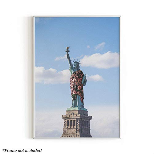 - Urban Willow Art Print - Prints and Posters, Banksy Wall Art Decor, Cute Trippy Wall Decor, Cool Posters, College Posters, Vintage Prints, 12 in x 16 in (Statue of Liberty Dress)