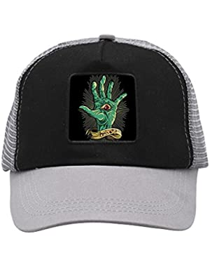 Unisex Screaming Green Hand Trucker Hat Adjustable Mesh Cap