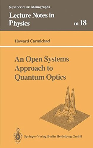 An Open Systems Approach to Quantum Optics: Lectures Presented at the Universite Libre De Bruxelles, October 28 to November 4, 1991 (Lecture Notes in Physics)