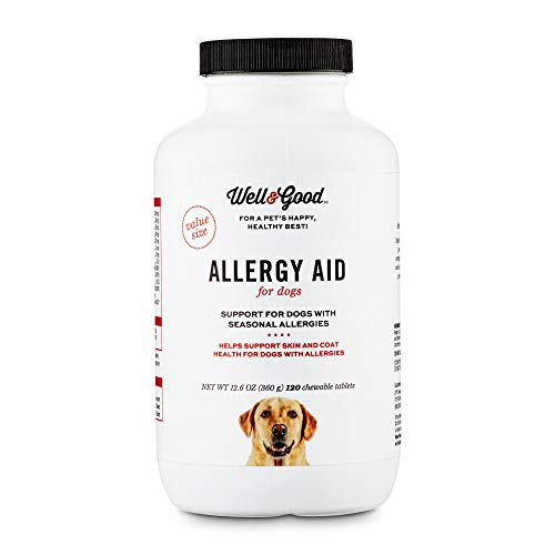 Well & Good Dog Allergy Aid Chewable Tablets, 12.6 oz, Count of 120, 12.6 LBS