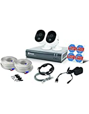 Swann 4 Channel 2 Camera HD CCTV Security Camera System, DVR-4580 with 1 TB HDD + 2 x 1080p Thermal Sensing Bullet Cameras, Works with Alexa and Google Assistant