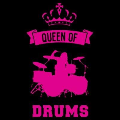 Sudadera con capucha de mujer Queen Of Drums by Shirtcity Negro