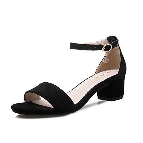 L'Épaisseur High EU37 Rome Sandales Sur Avec Bride Fendue Chaussures Des De SHOESHAOGE Heeled Avec qXOzgFwxx