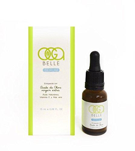 OGABELLE - Sérum Facial Hidratante Anti-Edad con Aceite de Oliva, Ácido Hialurónico, Vitamina E y Aloe Vera - 15ml: Amazon.es: Belleza